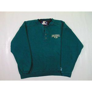 Starter L Green Bay Packers Pullover Sweatshirt Embroidered Football 90s